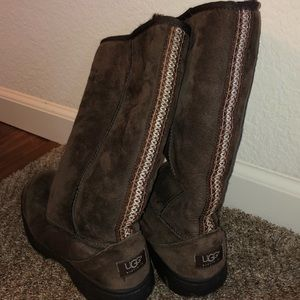 UGG Shoes - BROWN ULTIMATE TALL BRAID UGG BOOTS WOMEN SZ W8
